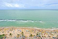 A view to the Recife city beach Stock Photography
