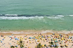 A view to the Recife city beach Stock Photos
