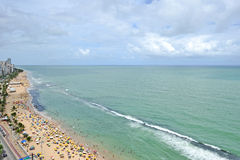 A view to the Recife city beach Royalty Free Stock Photo