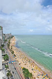 A view to the Recife city beach Royalty Free Stock Images