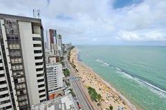 A view to the Recife city beach Stock Photos