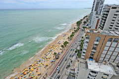 A view to the Recife city beach Royalty Free Stock Image