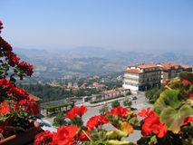 View to Republic of San Marino Royalty Free Stock Photos