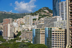 View to the residential area buildings in Monaco, Monaco. Royalty Free Stock Photos
