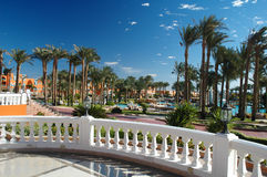 View to the resort. Grand Azur in Egypt Royalty Free Stock Image