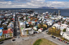 View to Reykjavik downtown, Iceland Royalty Free Stock Photo