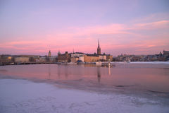 View to Riddarholmen and Gamla Stan Stock Photos