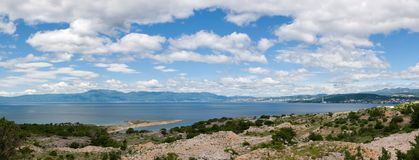 View to Rijeka from the island of Krk Royalty Free Stock Photography