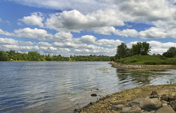 View to the river. Royalty Free Stock Images