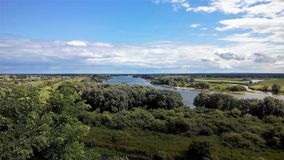 View to river Elbe near Boizenburg Royalty Free Stock Images
