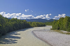 View to river Isar Royalty Free Stock Images