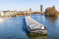 View to the river Main with barge Stock Images