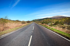 Road to the Scottlish Highlands. Stock Photography