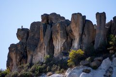 View to the rock formations in Phrygian Valley. View to the rock formations  in Phrygian Valley in Afyon Stock Photography