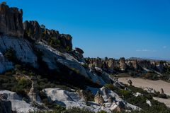 View to the rock formations in Phrygian Valley. View to the rock formations  in Phrygian Valley in Afyon Royalty Free Stock Images