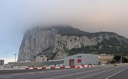 View to the rock of Gibraltar Stock Photo
