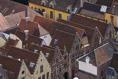 View to the roofs of Brugge. Stock Photography