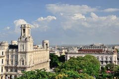 View to the roofs of Havana, Cuba Royalty Free Stock Photos