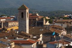 A view to the roofs of Montblanc town. Spain Stock Image
