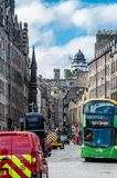 A view to Royal Mile street in Edinburgh Scotland royalty free stock photography