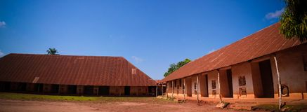 View to Royal Palaces of Abomey , Benin. View to Royal Palaces of Abomey of Fon people in Benin stock photos