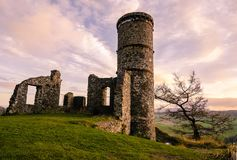 Kimmoull castle in Perthshire, Scotland. A view to ruines of Kimmoull castle in Perthshire, Scotland at a sunset light Stock Images