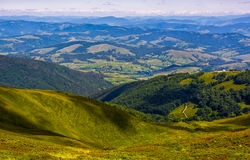 View to the rural valley in summer Stock Image