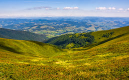 View to the rural valley in summer weather Royalty Free Stock Images