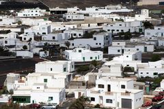 View to rural village of Uga in Lanzarote Stock Photography