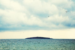 View to Saint Ivan island during storm Royalty Free Stock Photography