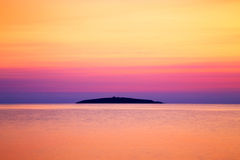 View to Saint Ivan island at sunrise, Bulgaria Stock Images
