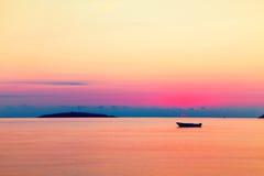 View to Saint Ivan island at sunrise, Bulgaria Stock Photo