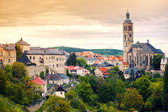 View to Saint James cathedral in Kutna Hora Royalty Free Stock Photo