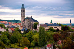View to Saint James cathedral in Kutna Hora Royalty Free Stock Photography