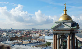 View to the Saint-Petersburg from the top of Saint Isaac's Cathedral Royalty Free Stock Photography