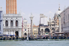 View to San Marco place from vaporetto Stock Photography