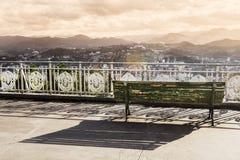 View to the San Sebastian or Donostia coast in winter. Toned image. View to the San Sebastian or Donostia coast in winter. Toned image royalty free stock photos