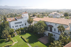 View to Santa Barbara Courthouse Royalty Free Stock Photography