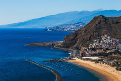 View to Santa Cruz city and beach Royalty Free Stock Images