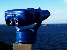 View to the sea. And telescope Royalty Free Stock Photos