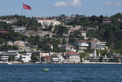 A view to sea at Bosphorus Stock Photo