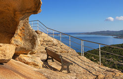 View to the sea from cliff. Royalty Free Stock Image