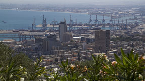 View to Sea and harbor,Haifa,Israel Stock Photo