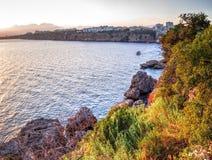 View to sea from Hidirlik Tower, Antalya, Turkey Stock Photos