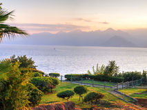 View to sea from Hidirlik Tower, Antalya, Turkey Royalty Free Stock Photography