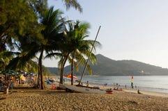 Sunny day at the Kamala Beach. Phuket island Thailand Royalty Free Stock Images