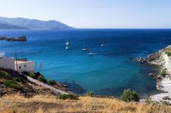 View to the sea in Kimolos island, Cyclades, Greece Royalty Free Stock Photo