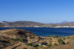 View to the sea in Kimolos island, Greece, early in the morning Royalty Free Stock Photo