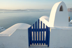 View to the sea in Oia Stock Images