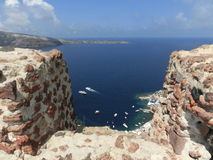 View to the sea from Oia village of Santorini Royalty Free Stock Photos